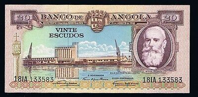 Angola  Banknotes 20 Escudos  1956  P87 Uncirculated  Portugal africa