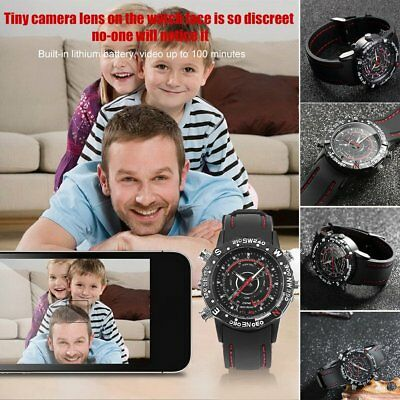 8GB Wasserdicht Smart Watch Spy HD Nachtsicht Uhr Camera DVR Video mit Mic   MI