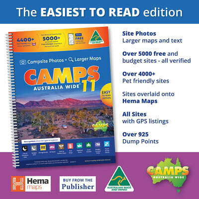 NEW 2019 Camps Australia Wide10 Easy to Read with photos Spiral Bound