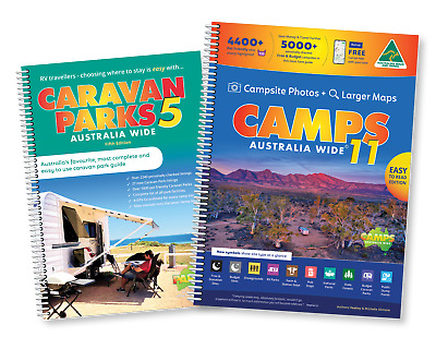 Save on our Premium Travel Pack incl CAMPS 10(A4) spiral bound & Caravan Parks 5