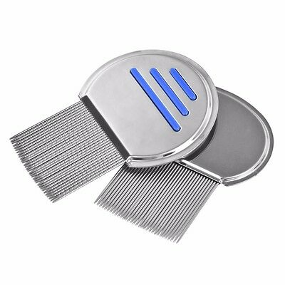UK Nitty Gritty NitFree Comb, Removes all head lice nits & eggs Steel Metal Head