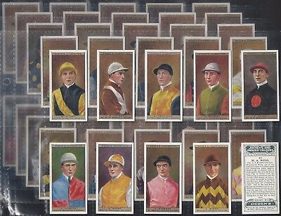 Ogdens-Full Set- Jockeys & Owners Colours (50 Cards) - Exc