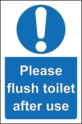Please flush toilet after use Safety sign