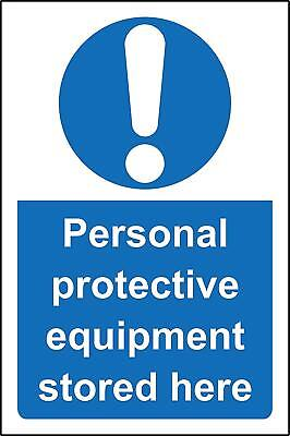 Personnel protective equipment PPE stored here safety sign