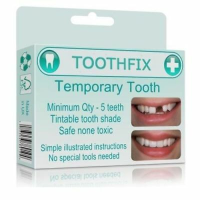 Cosmetic Tooth Temporary Instant Smile Teeth False Fake Cover Dental Natural DIY