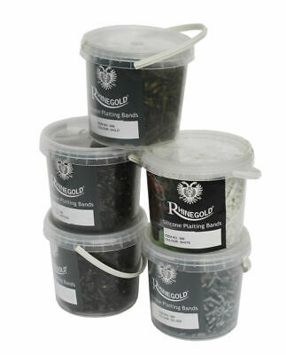 Rhinegold Silicone Plaiting Bands In Handy Tub - Various Colours