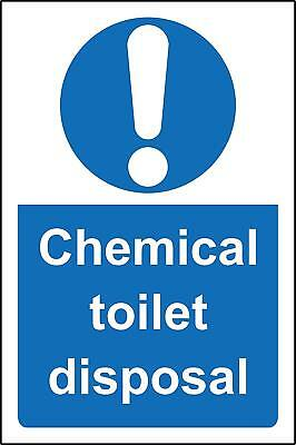 Chemical toilet disposal Safety sign