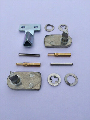 GAS / ELECTRIC METER BOX REPAIR KIT - 2x Metal Latch, 2x Hinges, Metal Key