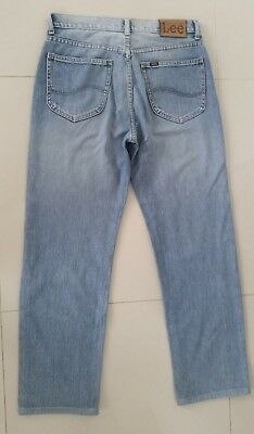 Mens Lee Riders Size 32 Zip Fly Light Blue Mens Jeans Vgc