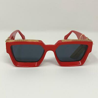 213d1c56af2 Louis Vuitton x Virgil Abloh Red MILLIONAIRES 1.1 Sunglasses Supreme limited