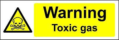 Warning toxic gas Safety sign