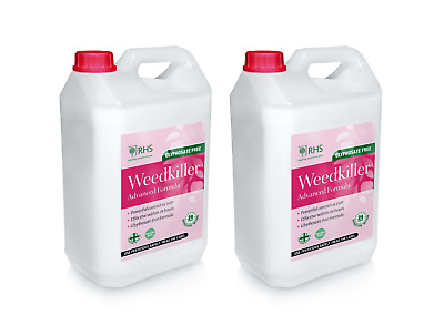 RHS Weed killer 2 x 5L  Advanced Glyphosate Free Formula Effective within 24h