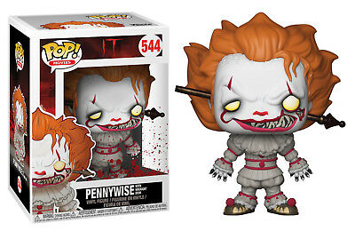 Funko Pop! Stephen King's IT PENNYWISE CLOWN WITH IRON ROD Vinyl Figure IN STOCK