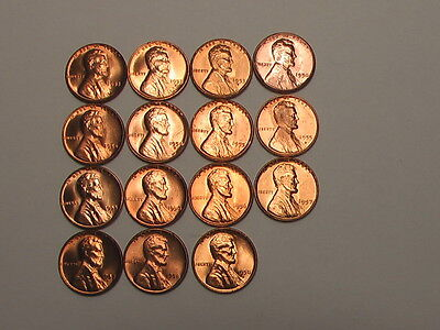 Choice Bu. 1953 Pd&s -2019 Lincoln Cents 154 Coins( Many From Mint Sets)
