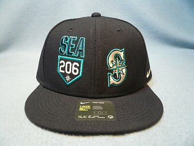 dc8eb98043cb3 Nike Seattle Mariners SEA 206 True Verbiage BRAND NEW snapback hat cap area  code