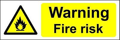 Warning sign Fire risk Safety sign