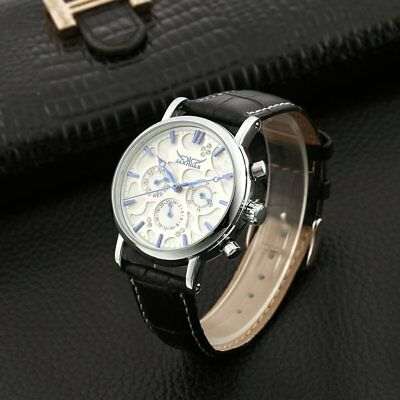 Jaragar Full Automatic Mechanical Watch Fashion Leather Strap Business Clock -P