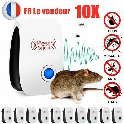 10X Pest Repeller Reject Ultrasonic Electronic Mouse Rat Mosquito Insect ContrO9