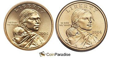 2004 P & D Sacagawea Dollars from US Mint Roll CP2533