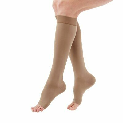 Medi Duomed Advantage Soft Opaque Open Toe Knee Highs - 15-20 mmHg Petite