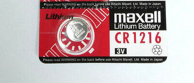 Japan made Maxell CR1216 1216 3V cell coin button battery for calculator x1 pcs