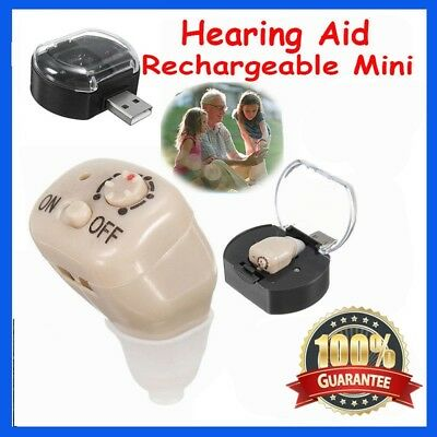 Rechargeable Mini Adjustable Tone In Ear Digital Hearing Aids Sound Amplifier GU