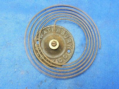 """Antique Waterbury Vintage Clock Coil Gong Bell Wire Chime - Spring diameter 4"""""""