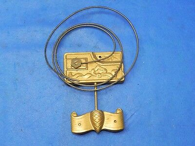 """Antique Vintage Clock Coil Gong Wire Chime Spring - Base 4.25"""" x 6"""""""