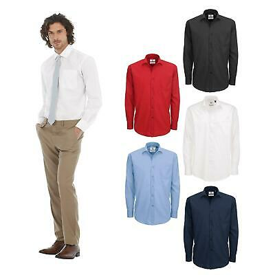 Smart Work Formal Shirt Button B/&C Collection Men/'s Heritage Long Sleeve SMP41
