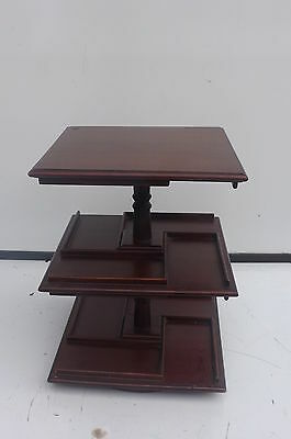Bookcase Desk top revolving made in mahogany Edwardian.