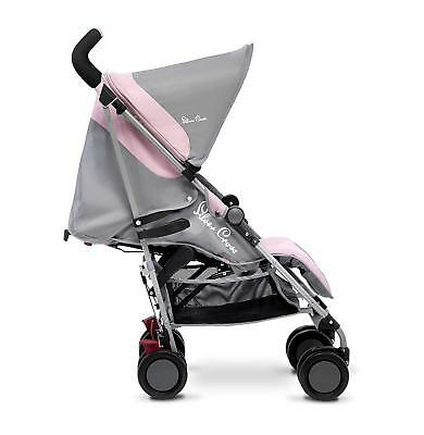 Silver Cross Pop Lie Back Buggy Stroller Pushchair Raincover New Vintage Pink
