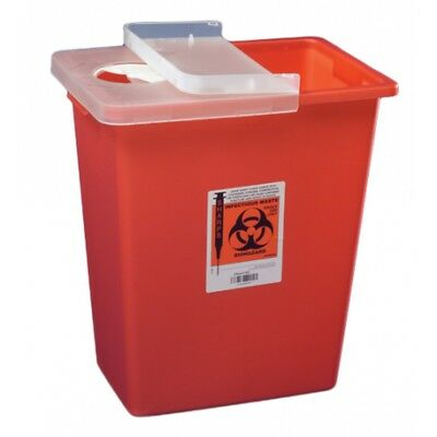 SharpSafety Multi-purpose Sharps Container, 1-Piece, 18 Gallon, Case of 5