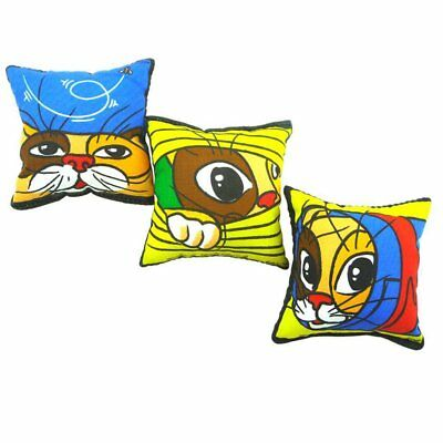 No Cardboard Square Cat Pillow Case Home Sofa Bed Decor Cushion Cover Cute