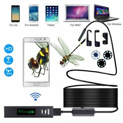 8 LED HD Wireless Endoscope WiFi Borescope Inspection Camera for iOS Android MN