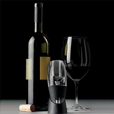 Black Essential Instant Aerating Red Wine Quick Aerator Sediment Filter