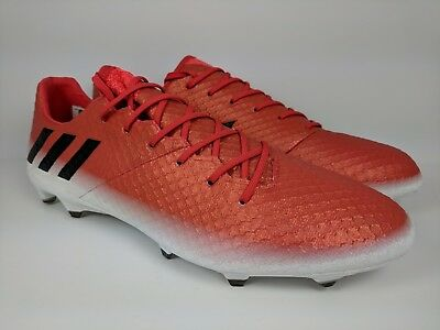 e81ce502b05 Soccer Mens Adidas Messi 16.1 FG Firm Ground Soccer Cleats Size 10 or 10.5  Red Black