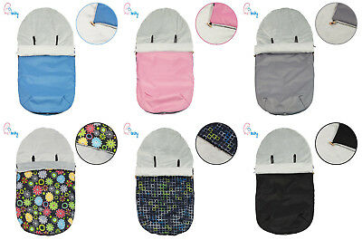 Universal Footmuff Seat Liner Cosy Toes Buggy Stroller - pink, blue, grey, black