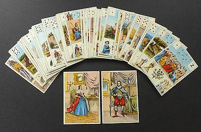 INCOMPLETE!!!! Antique Lenormand Fortune Telling Oracle Cards 1890 Grand Jeu Vtg