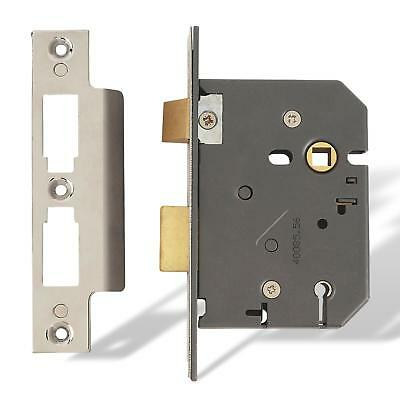 AL6 Yale British Standard 5 Lever Sashlock 76mm Polished Brass P-M560-PB-80