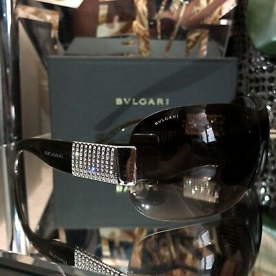 5e59fd3015195 Bvlgari Sunglasses 6030-B Swarovski Crystal Limited Edition Brown Sold Out