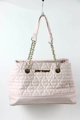 Betsey Johnson Ballet Pink Lips Embossed Faux Leather Link Strap Tote