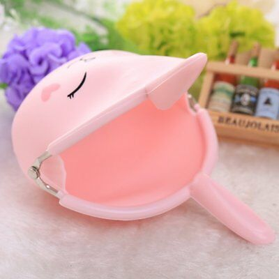 Lovely Silicone Wallet Cartoon Rabbit Key Bag Candy Color Soft Coin Bag