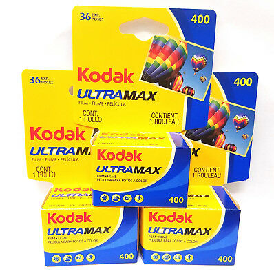 3 Rolls Kodak Ultramax GC 400 ISO 36 Exposure 35mm Color Film