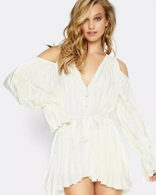 ad2316996fc Free People  340 Alice McCall Sunkissed Playsuit Romper NWT US 0 XS Creme