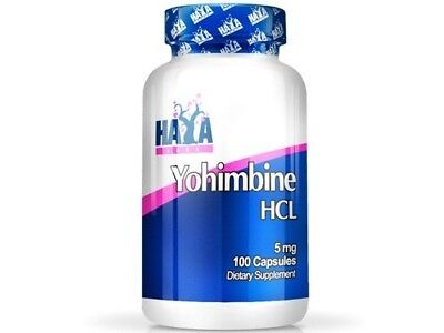 Yohimbine 5 mg 100 caps Haya Labs HCL Fat Burner Johimbine Libido Weight Loss