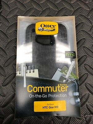 New in Box OEM OtterBox HTC One M9 Black Commuter Series Shell Gel Cover Case