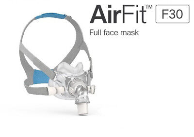 ResMed AirFit F30 Full Face CPAP Mask & Headgear KIT - All sizes