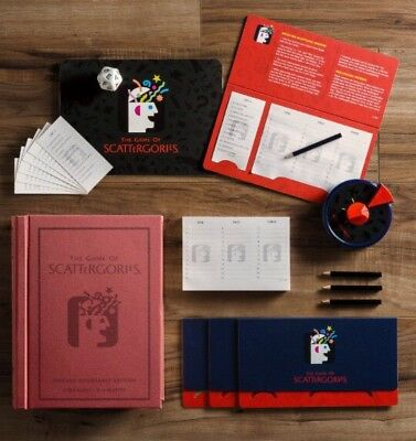 NEW The Game Of Scattergories Hasbro Vintage Bookshelf Edition New