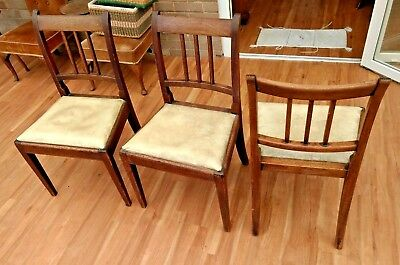 A Set of 3 George III ('Regency'? 'Adam'?) Style Mahogany Dining Chairs