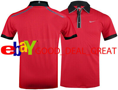 4589f470 Nike Tiger Woods TW Vented Collar Ultra 2.0 Polo Shirt 518107-496 *Rare to